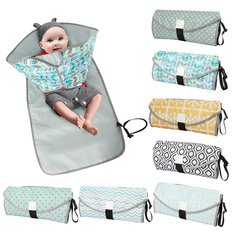 3 In 1 Waterproof Changing Pad Diaper Travel Mat Portable Baby Diaper Cover Mat  Multifunction Clean Hand Folding Diaper Bag