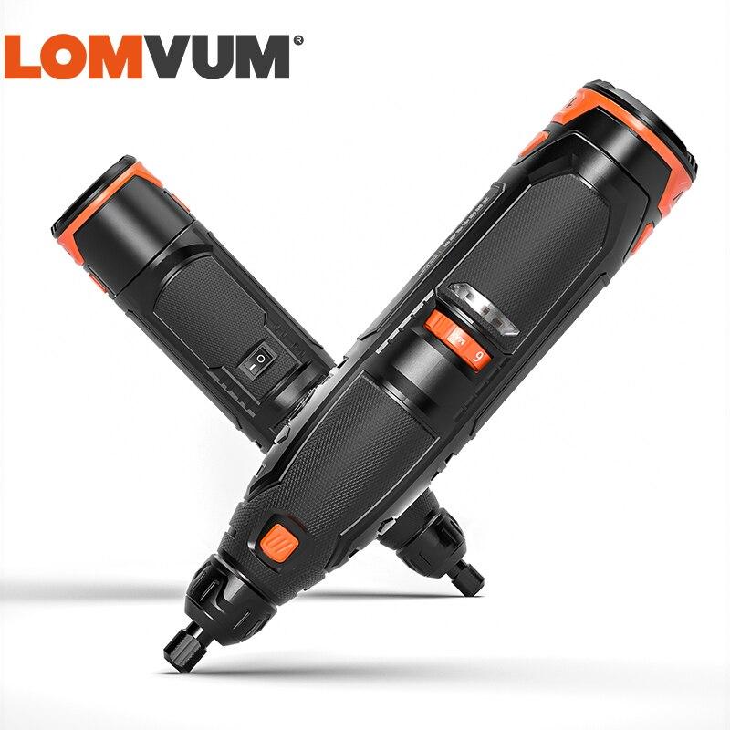 LOMVUM 12v Mini Drahtlose Schleifen Maschine EU Stecker 6 Geschwindigkeit Dreh Werkzeuge Kit Bohrer Engraver Pen für Fräsen Polieren holzbearbeitung