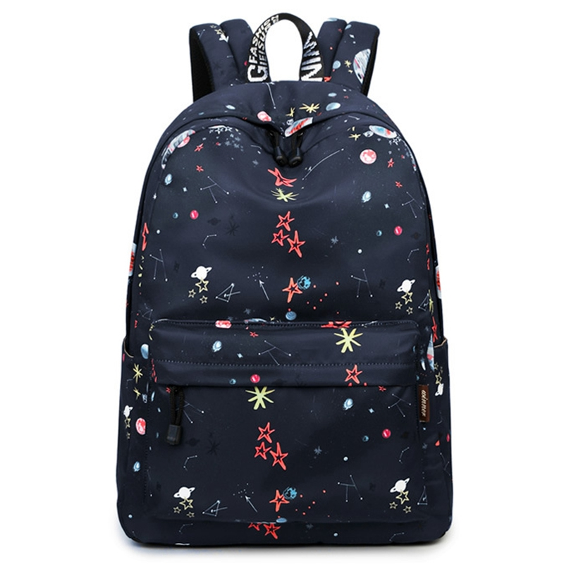 Classic Floral Printed Travel Backpack For Women Canvas School Backpack For Teenager Large Capacity Backpack Female
