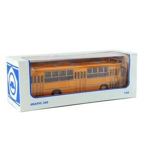 25 см 1/43 Россия Icarus модель автобуса двухэтажный автомобиль советская игрушка Diecasttoys для детей IKARUS-260 Желтые Детские игрушки