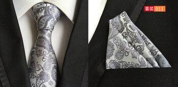 Classic Paisley Neck Tie Sets Ties Handkerchief Corbatas Para Hombre Cravate Pour Homme Noeud Papillon Bow Tie Gifts For Men