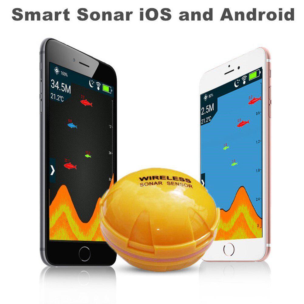 MeterMall Wireless Bluetooth Smart Fish Finder Sounder Sonar Fishfinder Sea Detect