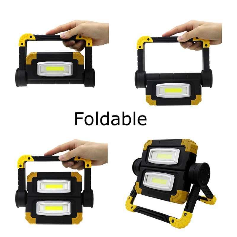 cuadrado miuline COB Luz de Camping 10W Luz de Trabajo LED Recargable 3 Modos Linterna al Aire Libre Impermeable para la Reparaci/ón de Autom/óviles Pesca Camping Luces de Seguridad de Emergencia