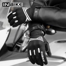 INBIKE All Season Motorcycle Gloves Anti Skid Shockproof Motocross Gloves Touch Screen Breathable Men Cycling Gloves Moto Guante