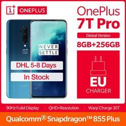2019 versão global oneplus 7 t pro 8 gb 256 gb snapdragon 855 plus smartphone 6.67