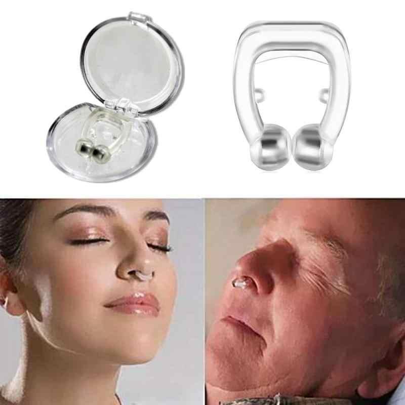 1pc磁気抗いびき鼻拡張器停止いびきノーズクリップ装置は簡単呼吸睡眠を改善のための男性/女性ドロップシッピング