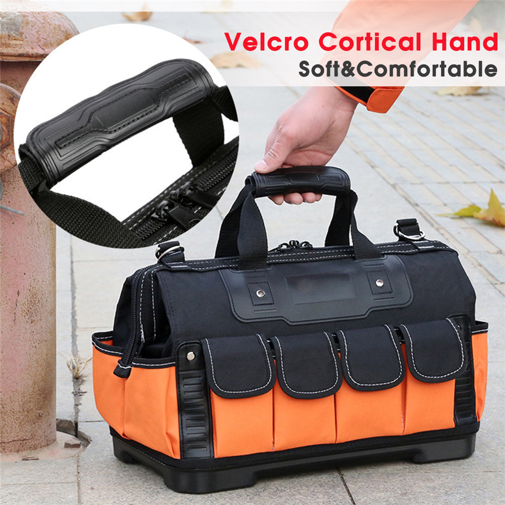 Waterproof Tool Bag Electrician Bag Multifunction Repair Toolbox Oxford Cloth Thicken Storage Tool Bag Storage Work Pocket