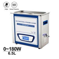 6.5L maszyna do czyszczenia ultradźwiękowego cicha konstrukcja grzałka zegarowa odgazowywanie metalowe szkło laboratoryjne olej do odtłuszczania rdzy ultradźwiękowa