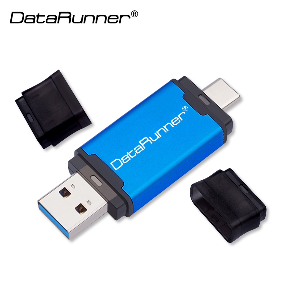 DataRunner TYPE-C USB3.0 USB Flash Drive Pen Drive For Type-C/PC 512GB 256GB 128GB 64GB 32GB External Storage 2 In 1 Pendrive