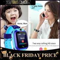 Reloj inteligente para niños Q12B reloj de móvil para android ios vida impermeable LBS posicionamiento 2G tarjeta Sim llamada