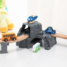 Grande túnel duplo de plástico para trilhas ferroviárias de madeira trem brinquedo para crianças criança meninos meninas-compatível com todos os principais tipos