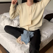Women Sweater New Spring Casual O-neck Single Breasted Female Cardigans Knitted Loose Fit Ladies Tops Knitwear(China)