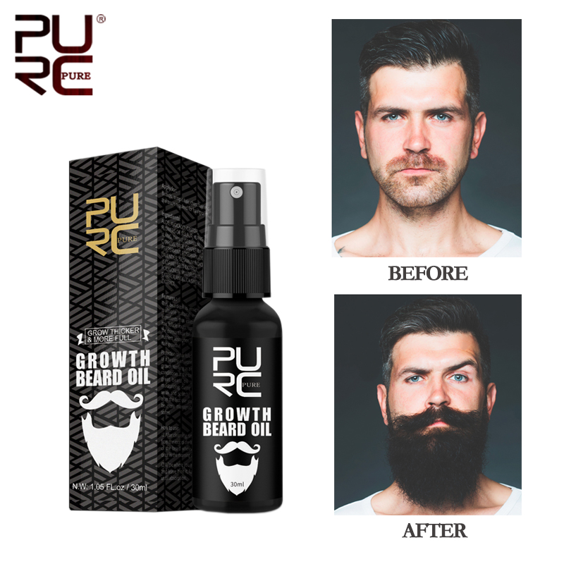 11.11 PURC Beard Growth Oil For Men Beard Growth Grooming&Trimming Mustaches Moisturized Growth Maintenance Treatment Beard Care