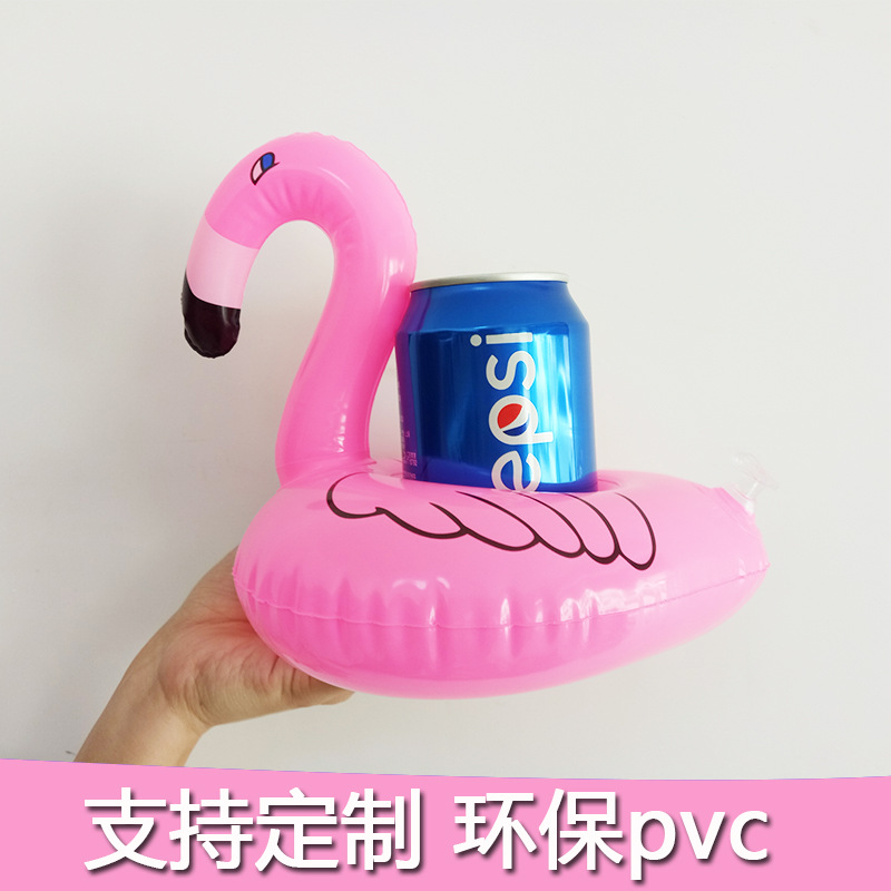 INS Hot Selling Flamingo Inflatable Cup Seat Pool Party Water-based Inflatable Cup Stand PVC Beverage Floating Cup Holder