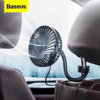 Baseus wentylator samochodowy Cooler 360 stopni obrotowy cichy samochód odpowietrznik klimatyzator wentylator 3 prędkości regulowany tylne siedzenie Mini wentylator USB chłodzenie tanie i dobre opinie 11cm 10 6cm ABS+PP 135g Car Air Cooling Usb Mini Fan 106m Baseus car fan 10 W Przełącznik obrotowy Baeus Departure Vehicle Fan