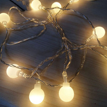 Ball lights outdoor 10M 100 LEDS Fairy Christmas Lights 220V EU/battery holiday wedding Decoration