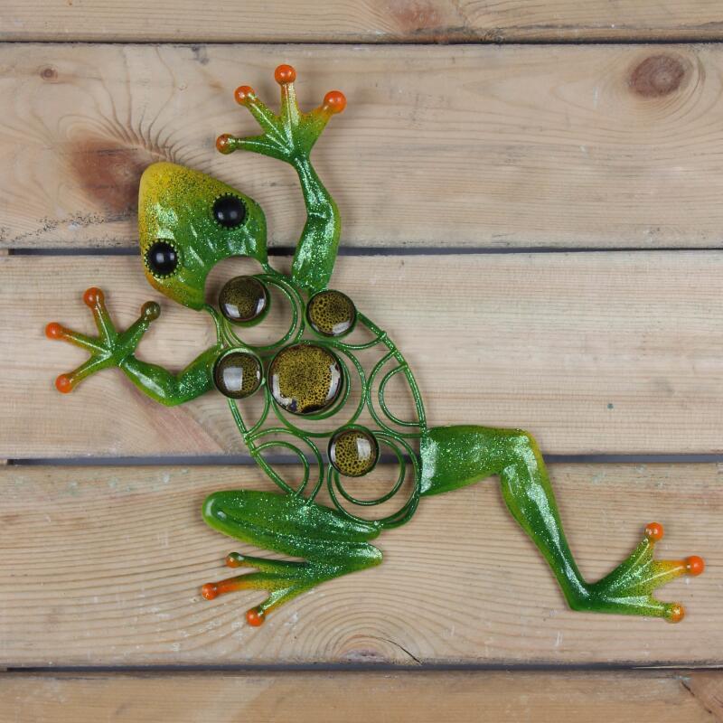 Металл лягушка стена произведения искусства для дома и сада украшения статуи скульптуры и миниатюры сад украшения открытый животное