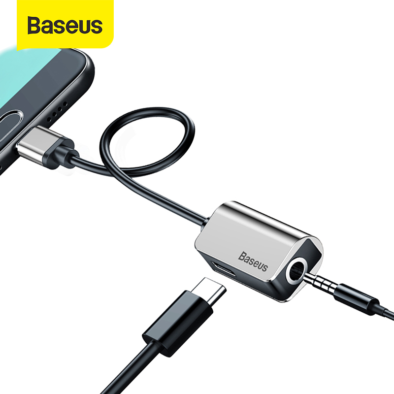 Baseus L40 USB C To Jack 3.5 Aux Adapter Type C Cable Extension Audio Splitter 3.5mm AUX Earphone Converter For Huawei Xiaomi
