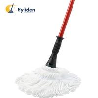 Eyliden 57,5 pulgadas de microfibra de trapeador mano liberación mopa de limpieza de suelo polvo trapeadores con 2 extraíble lavable cabezas