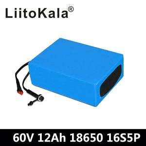 LiitoKala 60В аккумулятор 60В 12Ач батарея для электрического велосипеда 60В 12Ач литиевая батарея с 67,2 В 2А зарядное устройство для 1000 Вт 1500 Вт мото