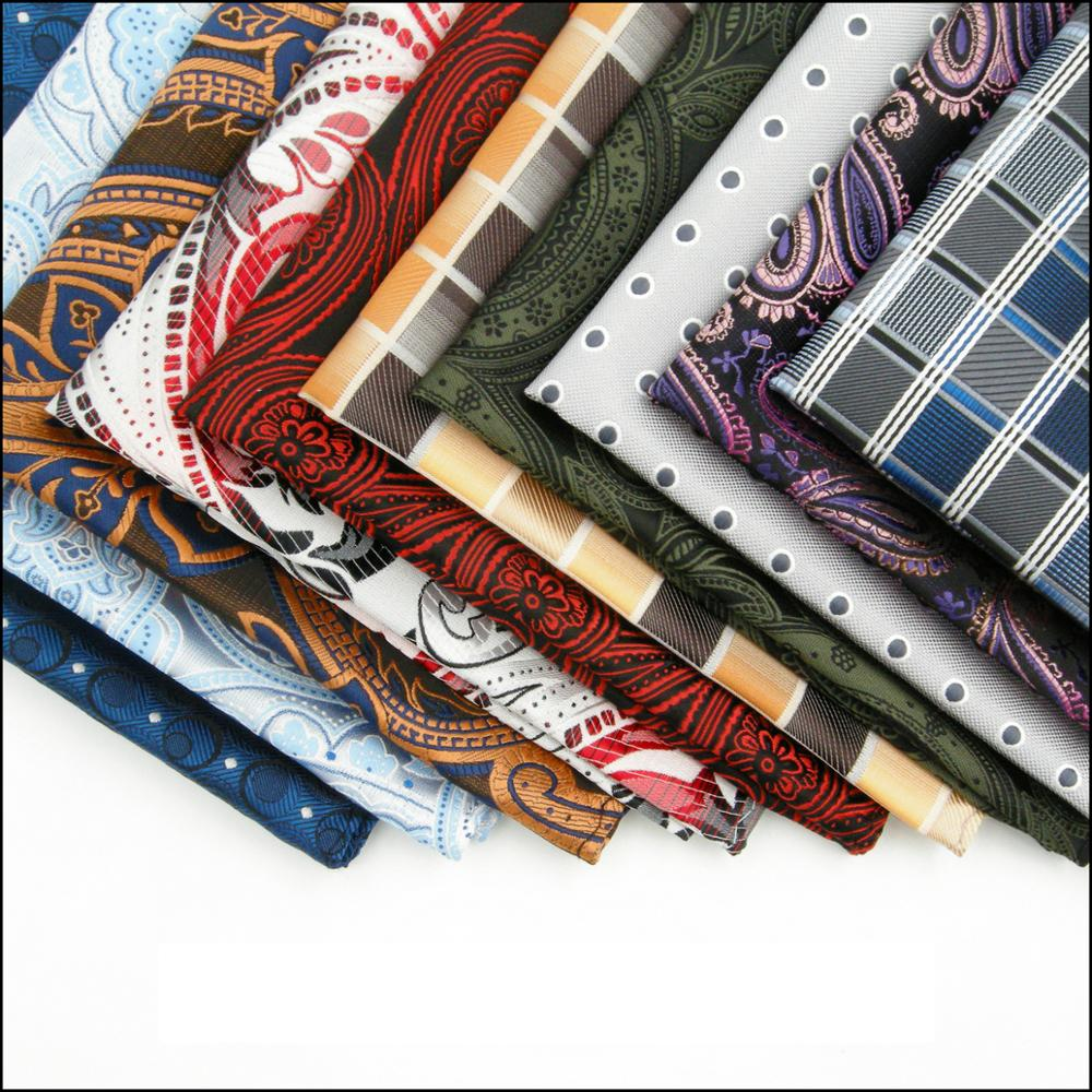 Floral Dots Silk Mens Pocket Square Wedding Fashion Handkerchief Business Hanky