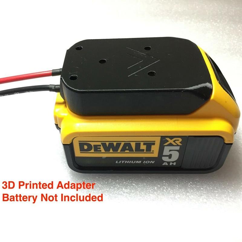DeWALT 20v Max 18v Dock Power Connector 12 Gauge Robotic Battery Adapter Models: DCB184, DCB204, DCB205, DCB200, DCB203, DCB606
