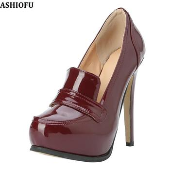 ASHIOFU Handmade Womens Stiletto High Heel Pumps Party Prom Office Dress Shoes Large Size Fashion Daily Court Shoes