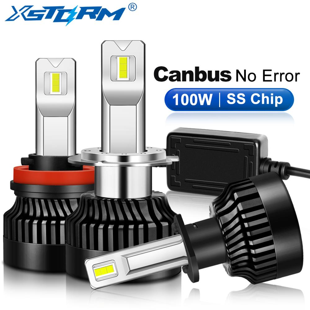 LED Headlight Bulb Fog-Lamp Turbo 9012 Hir2 9006 Hb4 Canbus H11 9005 Hb3 25000LM H4 100W