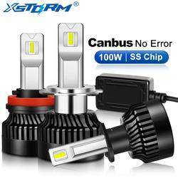 2 sztuk 100W 25000LM LED reflektor H1 H7 LED Canbus H8 H11 9005 HB3 9006 HB4 9012 HIR2 samochodu żarówka Turbo lampa przeciwmgielna do samochodów 12V 24V|Żarówki reflektorów samochodu (LED)|Samochody i motocykle -