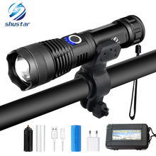 XHP50 LED Bicycle Light Super Bright Tactical Flashlight 5 Mode USB Rechargeable Zoom Use 18650 or 26650 for Outdoor Bike Light цена и фото