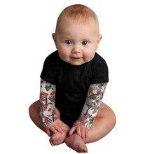 Bodysuit Tattoo-Printed Long-Sleeve Baby-Boy Newborn Toddler Romper Stitch Patchwork