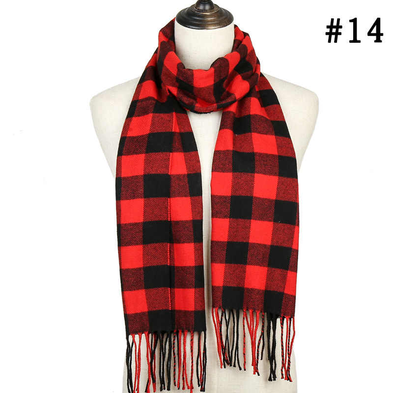 2019 women cashmere scarf winter ladies warm shawls and wraps long plaid pashmina foulard femme Fashion Casual Poncho Scarfs