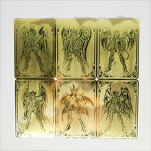 12pcs/set Saint Seiya Metal Gold Toys Hobbies Hobby