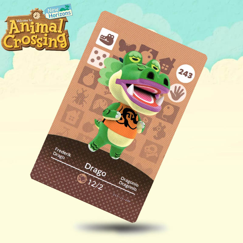 243 Drago Animal Crossing Card Amiibo Cards Work For Switch NS 3DS Games