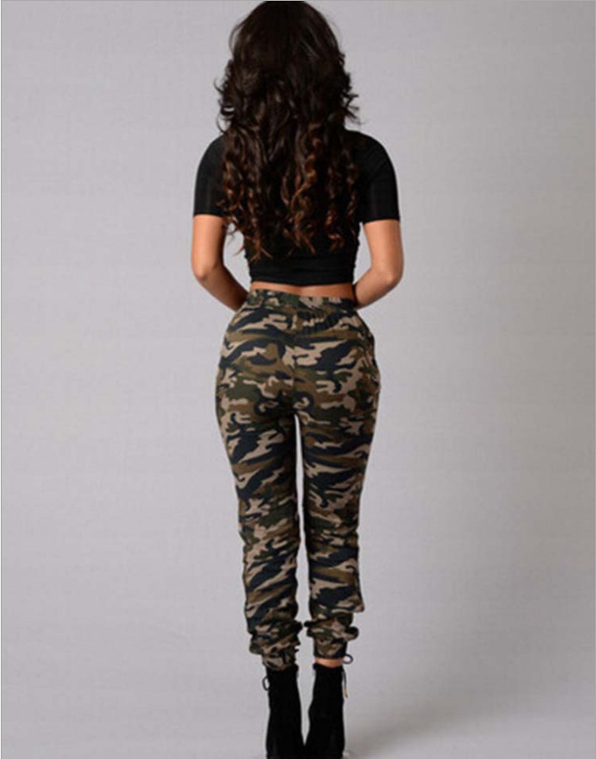 2018 Hot Selling European And American-Style Camouflage Printed Pants European Leg Hot Selling Pencil Pants