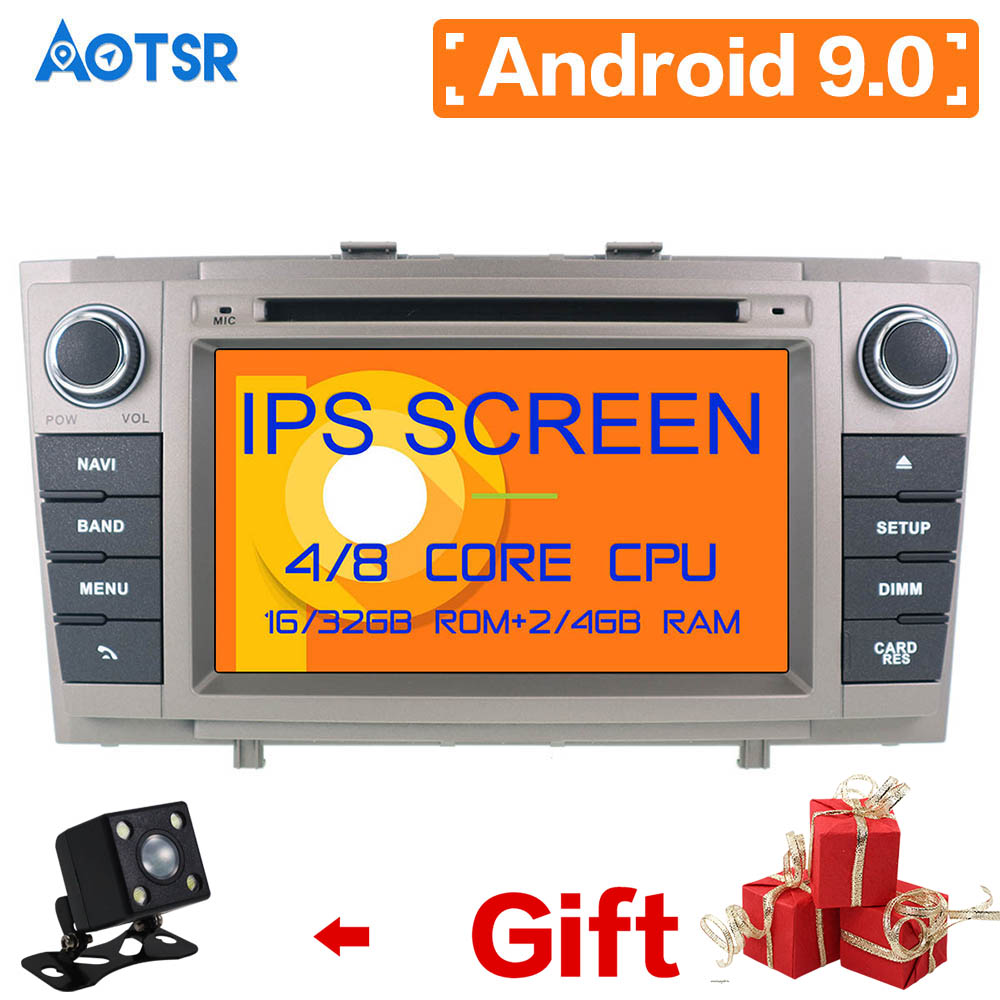 Aotsr IPS DSP <font><b>Android</b></font> 9.0 4GB +64GB 8core Car DVD Player Wifi RDS RADIO GPS map Bluetooth For <font><b>Toyota</b></font> Avensis <font><b>T27</b></font> 2009-2015 radio image