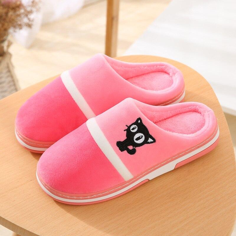 zhen zhou shoes 2019 women&men home slippers indoor winter warm cotton female cartoon cute