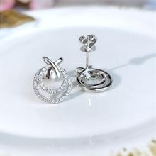 100% S925 Sterling Silver Stud Earring for Women Fashion Solid Silver 925 Jewelry Trendy Natural Bizuteria Diamond Earrings