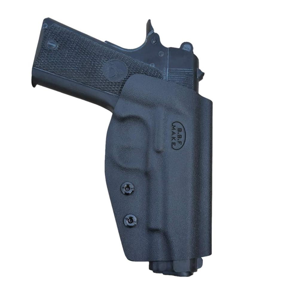 BBF Make OWB KYDEX Holster Fit: Colt Commander 1911 .45 9mm 4.25 / 4.5 Inch PT 1911 Gun Holster Belt Outside Carry Pistol Case