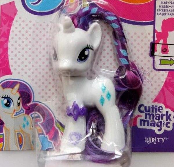 Маленькая милая лошадь, модель аниме, Классические игрушки для девочек, Твайлайт, яблочный Джек, Рарити, Флаттершай, 7 см