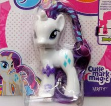 Pequeno cavalo modelo anime clássico brinquedos para meninas, crepúsculo apple jack raro fluttershy 7cm