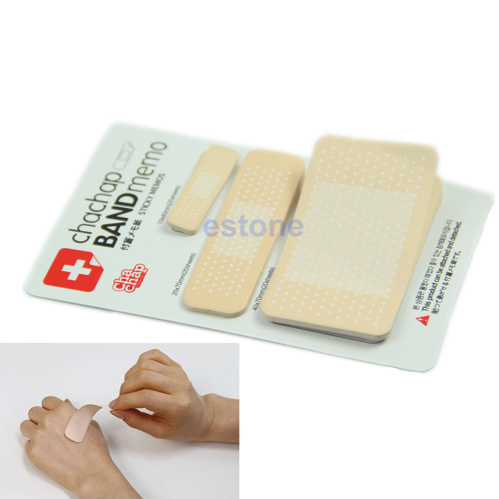 Novelty Band Aid Set Adhesive Plaster Post-it Bookmark Band Memo Sticky Notes
