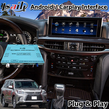 Lsailt Android Carplay Navigation Interface für Lexus LX570 Maus Control 2016-2020 Modell Youtube Waze LX 570