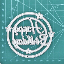 GJCrafts Happy Birthday Letter Dies Circle Metal Cutting Scrapbooking Card Making Embossing Die Cut New Craft Decor