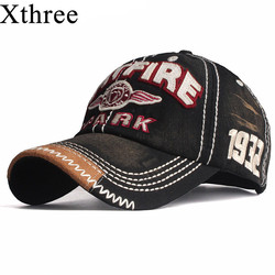 Xthree New Baseball Caps for Men Cap Streetwear Style Women Hat Snapback Embroidery Casual Cap Casquette Dad Hat Hip Hop Cap