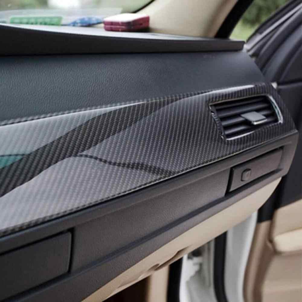 Auto Styling Glänzend Schwarz 5D Carbon Faser Vinyl film Auto Wrap DIY Auto Tuning Teil Aufkleber