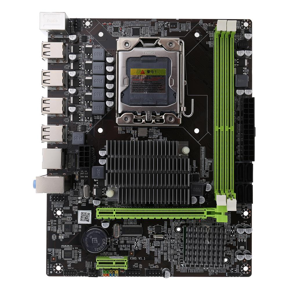 Standard Size X58 LGA 1366 Motherboard Support REG ECC Server Memory And Xeon Processor Motherboard