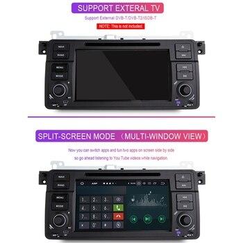 Rádio Auto 1 Din Android 9.0 Car DVD Player para BMW E46 M3 318/320/325/330/335 Rover 75 1998-2006 Navegação GPS BT Wifi, Com Ca 1