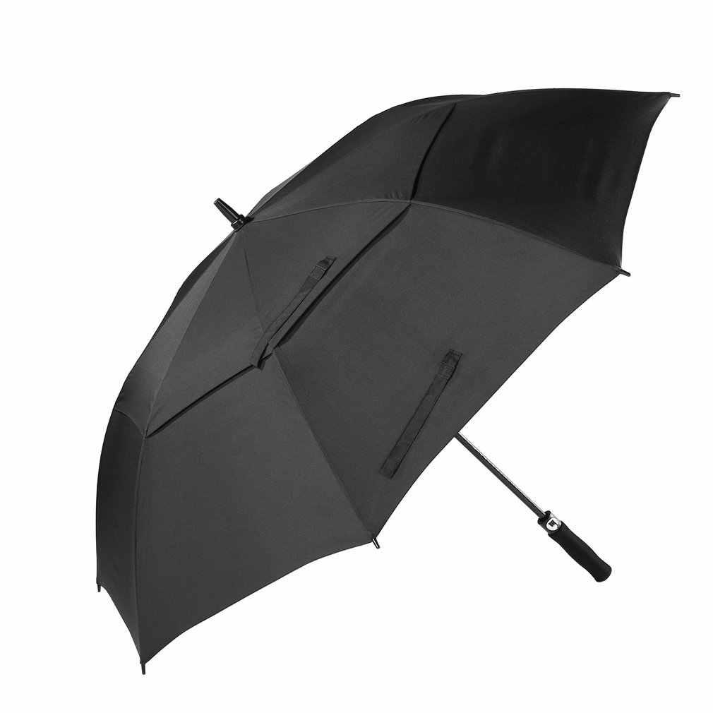 مظلة غولف كبيرة اضافية الرجال قوية يندبروف شبه التلقائي مظلة طويلة رمح مظلة مزدوجة يندبروف التلقائي مفتوحة