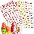 Весенне-летние фрукты, Слайдеры для ногтей, арбуз/клубника/оранжевый, 3D наклейки для ногтей, наклейки, новый дизайн, декоративные наклейки и...